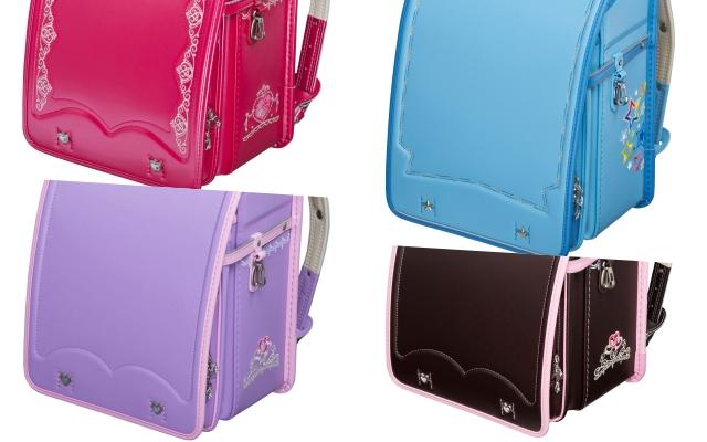 女の子向けのランドセル色の人気ランキングは赤・ピンク・水色・紫・茶色と人気が分散されています。