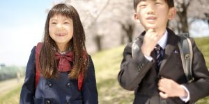 新入学の小学1年生