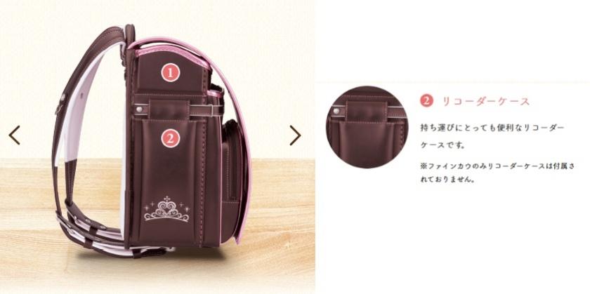 萬勇鞄ランドセルのリコーダーケースは収納に困る縦笛の持ち運びに便利です。
