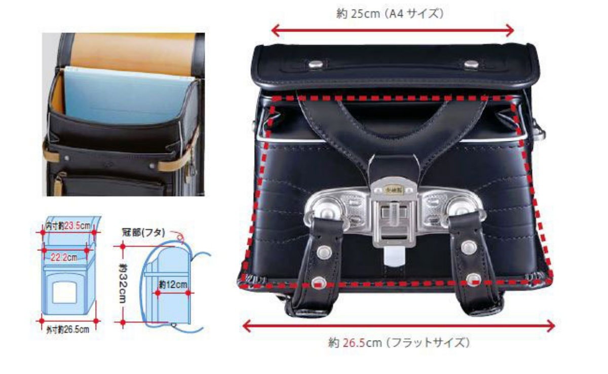 大峽製鞄ランドセルのトラピーズは特許出願中